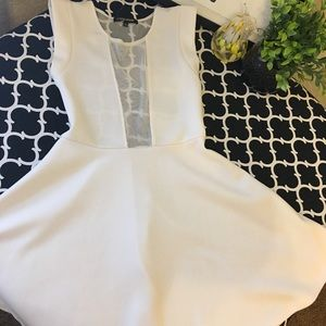 Dresses & Skirts - Off white sheer back party dress